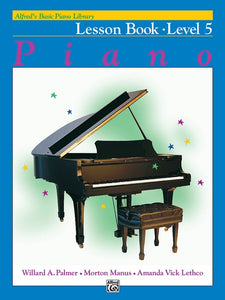 Alfred's Basic Piano Library Piano Lession Book Level 5
