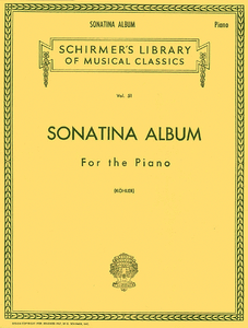 Sonatina Album Schirmer Library of Classics Volume 51 Piano Solo