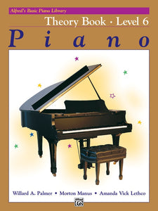 Alfred's Basic Piano Library Piano Theory Book Level 6