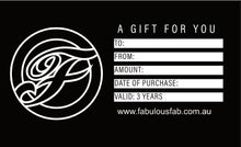 Load image into Gallery viewer, Fabulous Fabrications Gift Voucher