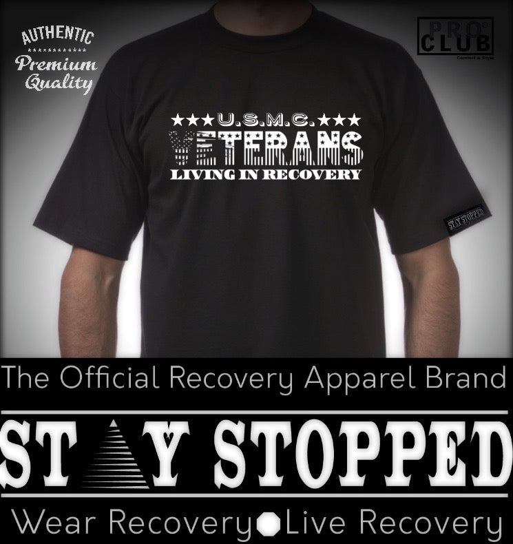 U.S.M.C Veterans in Recovery Tribute Heavyweight Tee