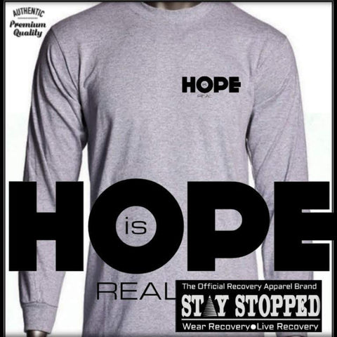 HOPE is REAL Long Sleeve Heavyweight Tee
