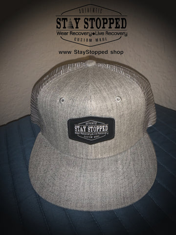 Stay Stopped  Heather Gray SnapBack