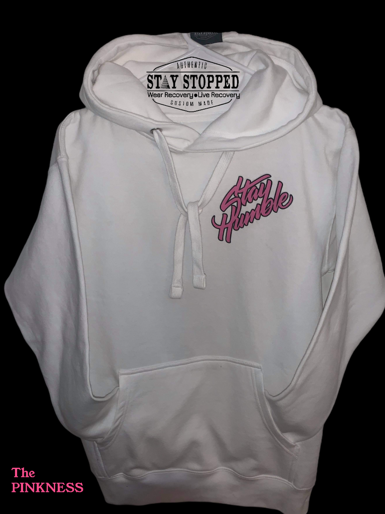 PINKNESS WHITE-PULLOVER HOODIE