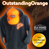 Outstanding orange HAT/HOODIE combo