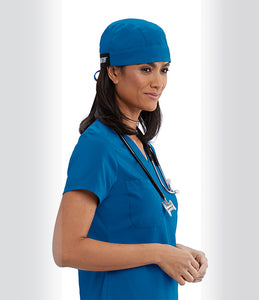 Grey's Anatomy™ Scrub Hat in Royal with self tie back. Classic Fabric.
