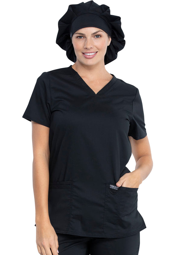 Bouffant Scrubs Hat in Black