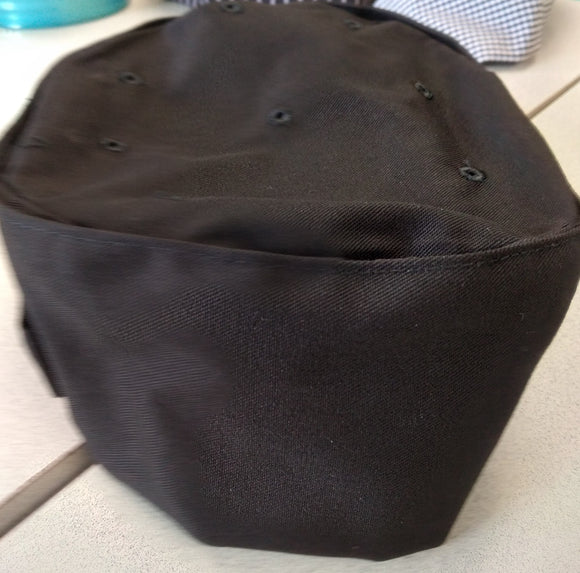 Pill Box Cap, with velcro closure on side. Chef Hat