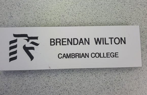 Name Tag Cambrian College Magnet