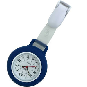 Nurse Pin Watch Clip-On Silicone Navy