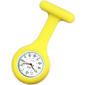 Nurse Pin Watch Silicone Lemon