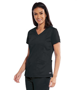 Grey's Anatomy Zipper Top 4 Pocket. Classic Fabric.