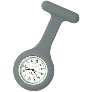 Nurse Pin Watch Silicone Gray