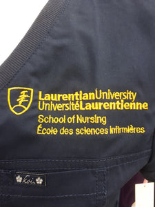 English Laurentian Logo included with Top Purchase.Top sent out for Embroidery.