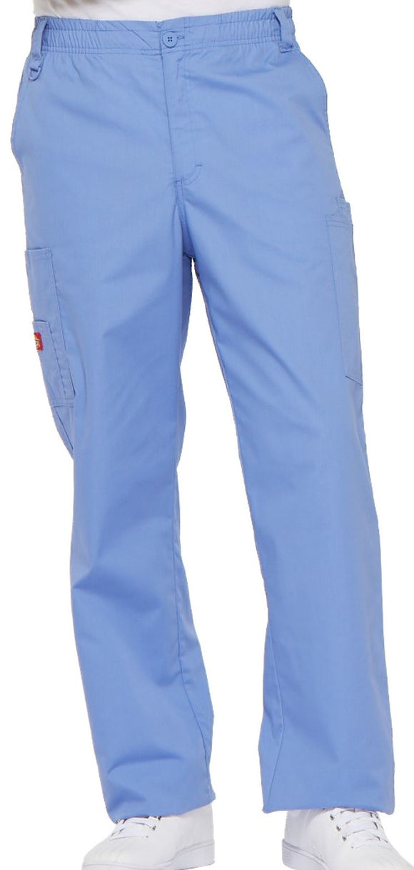 Dickies Men's zip fly pull-on pant features an all around elastic waistband.