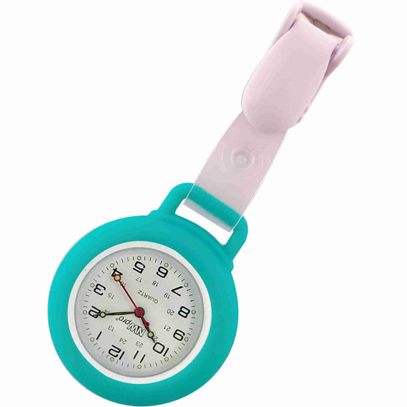 Nurse Pin Watch Clip-On Silicone Teal
