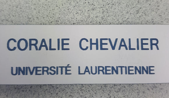 Laurentain french magnet name tag-