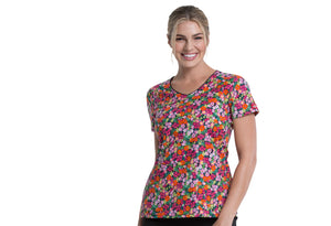Dickies V-Neck Top in Stay On Tropic