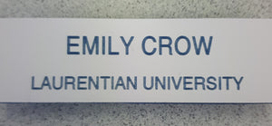 Laurentian Magnet Name Tag English
