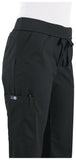 Koi ultra comfortable yoga-style knit-waist cargo pants.