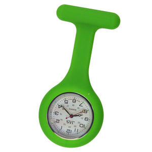 Nurse Pin Watch Silicone Lime