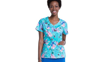 Dickies V-Neck Top in Jungle Flutter