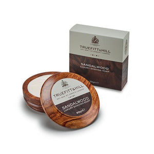Sandalwood Luxury Shaving Soap In Wooden Bowl