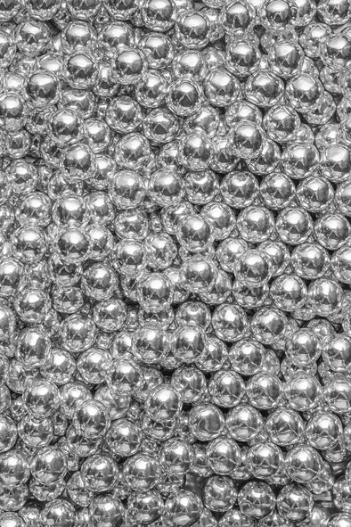 Chocolate Balls - Silver - (Large/10mm) Sprinkles Sprinkly