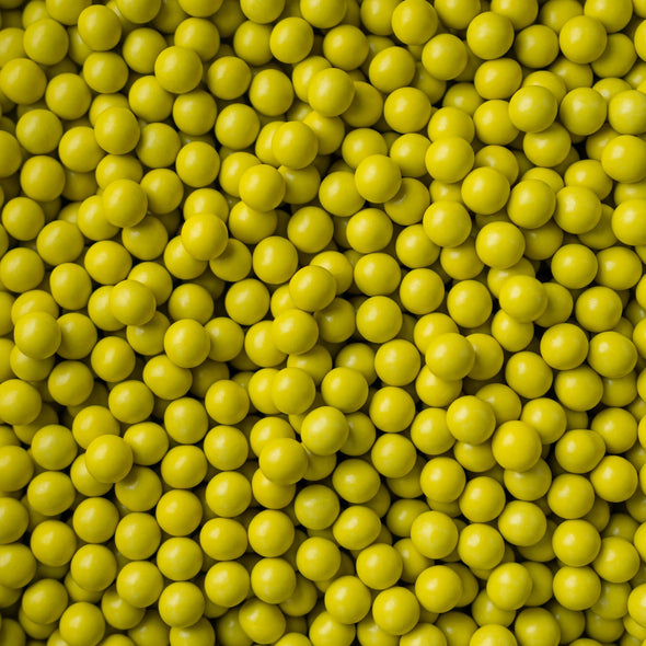 Chocolate Balls - Yellow - (Large/10mm) Sprinkles Sprinkly