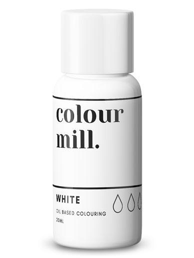 Colour Mill - Oil Based Food Colouring - 20ml Food Colouring Colour Mill White