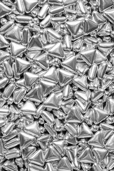 Metallic Shapes - Silver Triangles Sprinkles Sprinkly