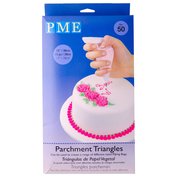 PME 50 Parchment Triangles Piping Bags PME