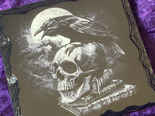 Load image into Gallery viewer, Raven, Moon and Skull Altar Tile