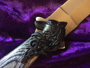 Black Wolf Steel Athame