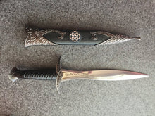 Load image into Gallery viewer, Athame / Dagger - Celtic Knot Stainless Steel Double Sided Blade
