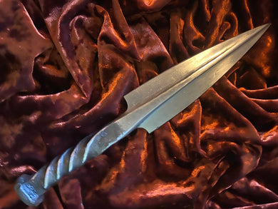 Athame / Dagger Hand Forged Railroad Spike