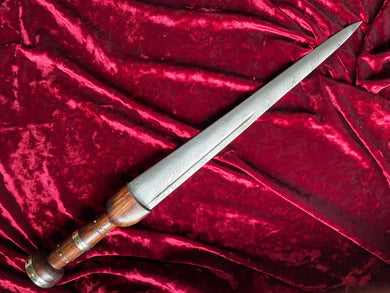 Athame/Dagger - Damascus Steel Short Sword - 20