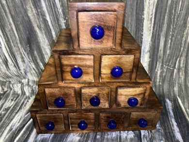 Apothecary Chest 10 Drawers Ceramic Knobs
