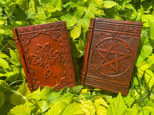 Load image into Gallery viewer, Book Box - Celtic Cross or Pentagram 6x4x2""