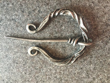 Load image into Gallery viewer, Witches Cloak Pin Penannular Brooch Celtic Torc Viking