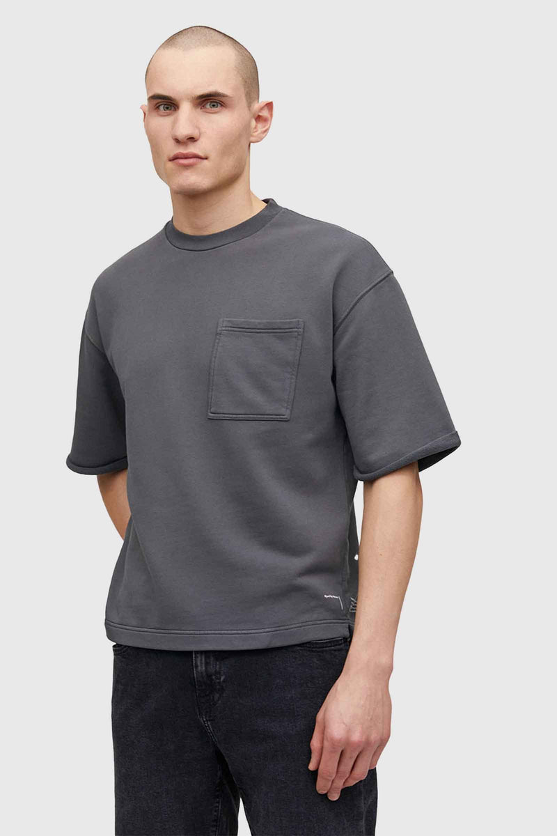 Armedangels Niaas Dyed by Nature T-shirt Natural Charcoal