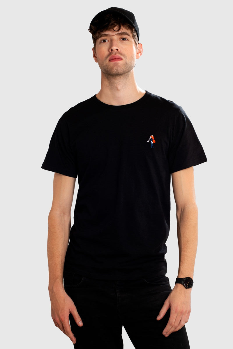 DEDICATED Stockholm Back Scratch T-shirt Black