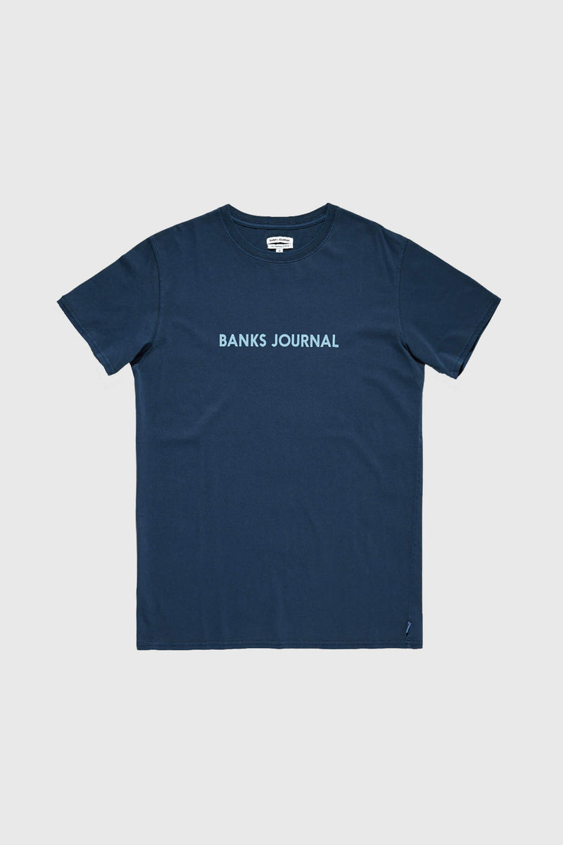 Banks Journal Label Core T-shirt Insignia Blue