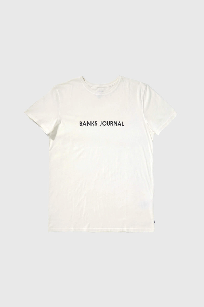 Banks Journal Label Core T-shirt Off White