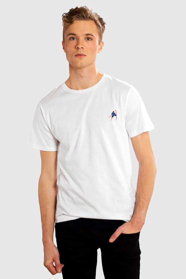 DEDICATED Stockholm Daffy T-shirt White