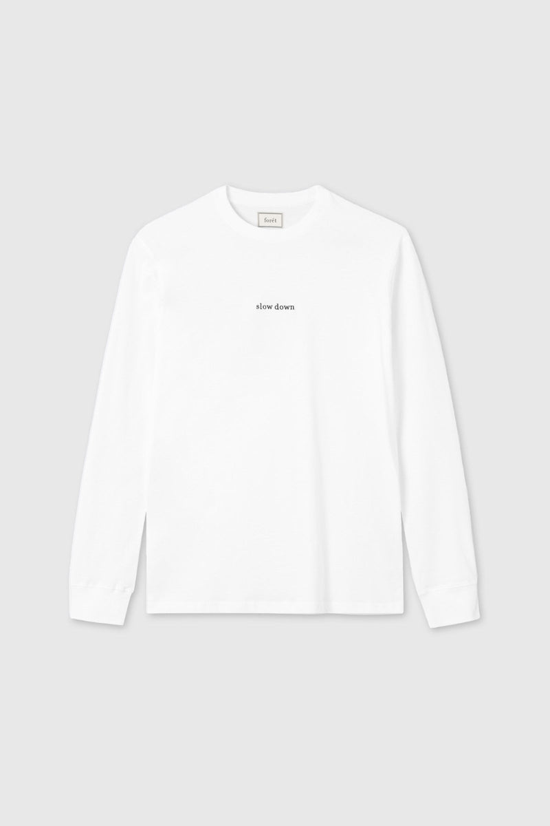 Foret Down Long Sleeve White