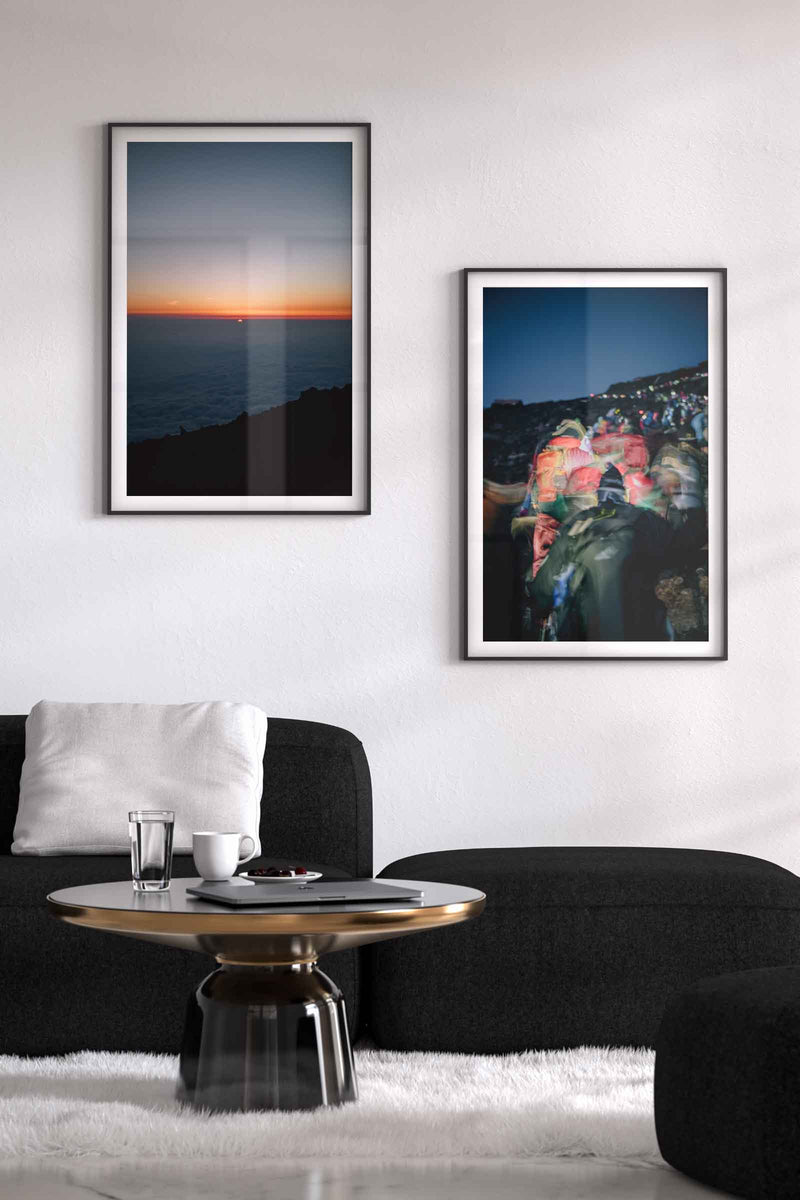 Living room lifestyle image with photos on wall