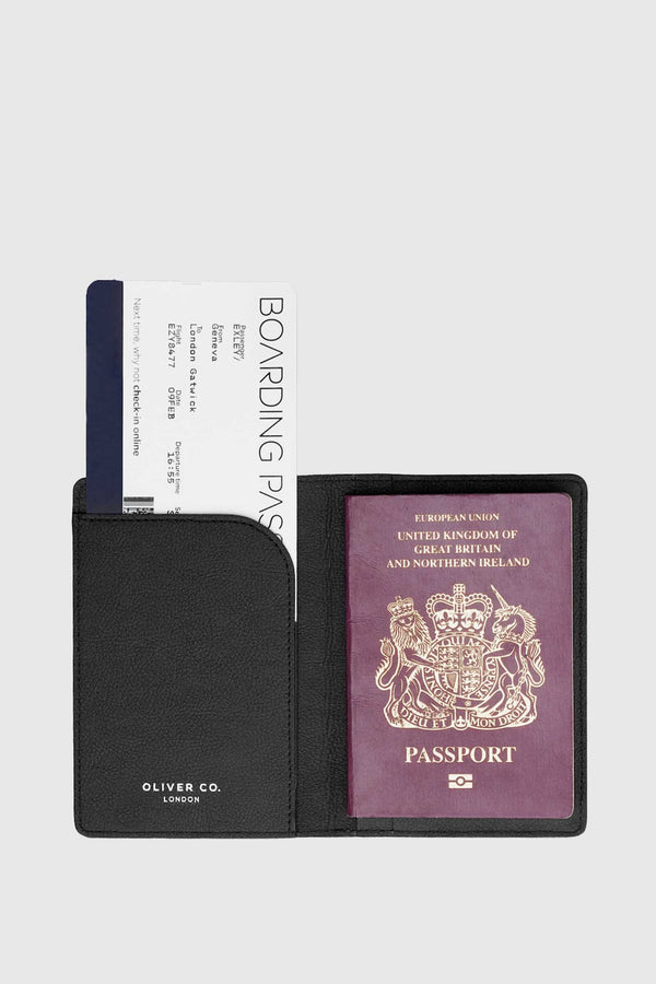 Oliver Company Passport Holder Black 2