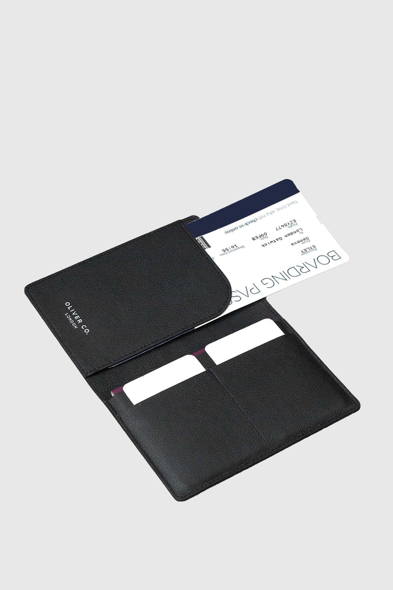 Oliver Company Passport Holder Black 3