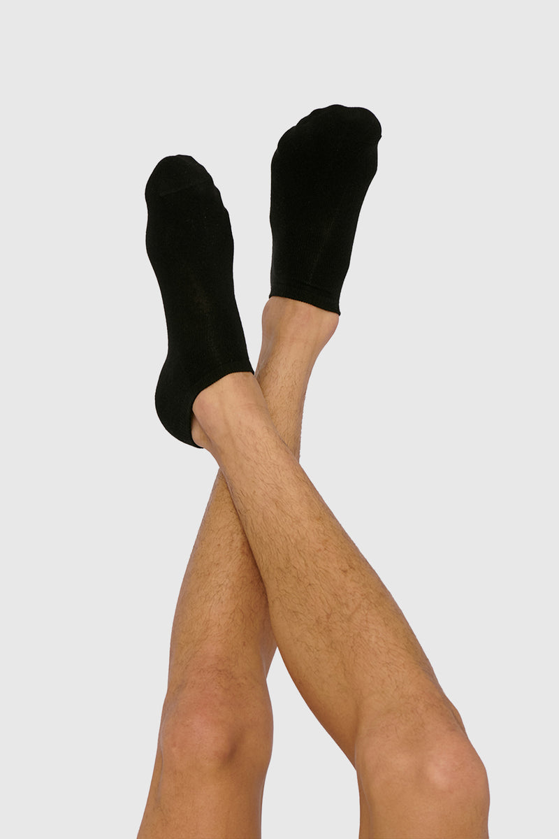 Organic Basics Organic Cotton Ankle Socks - 2-Pack Black
